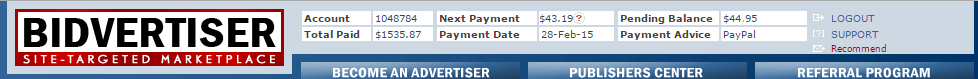 Bidvertiser ki meri payment proof