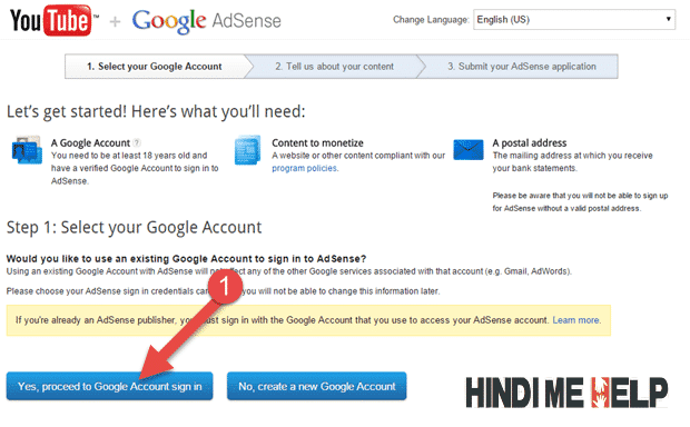 yes, create a new account ki button par click kare