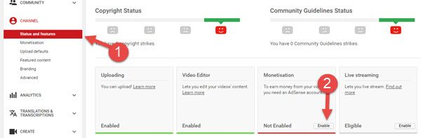 youtube me monetize enable karne ke liye kya kare