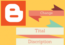 Change Tital Discription Address of blogger