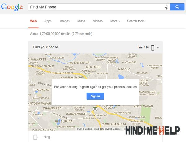 ab ek Google map khulega search me, usme sign in karo