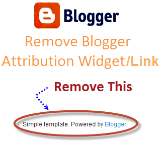 Powered by Blogger ko Kaise Remove kare - Blogger