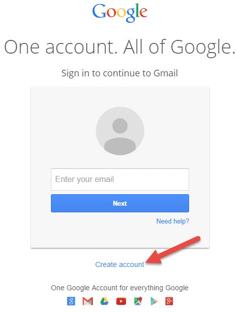 gmail.com ki site par ja kar Create new account par click karo