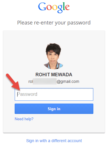apne Google account ko delete karne ke liye apna password dale