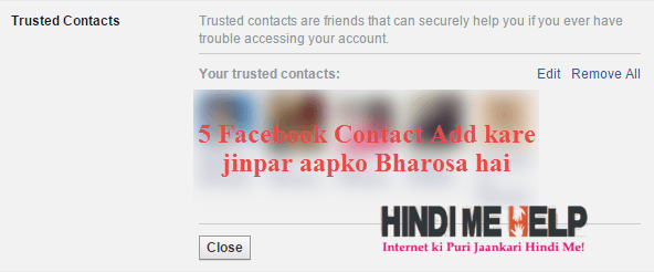 trusted contact add kare facebook me