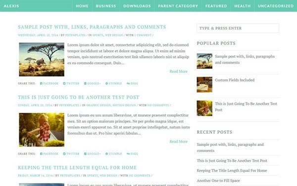 Alexis Responsive Blogger Template