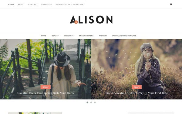 Alison Responsive Blogger Template