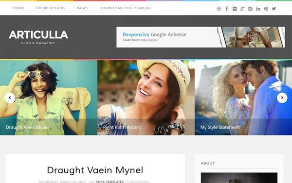 Articulla Responsive Blogger Template