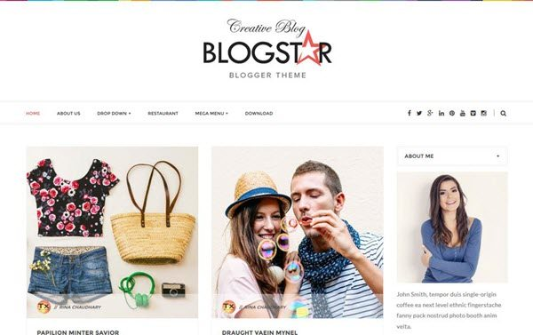 Blogstar Clean Responsive Blogger Template