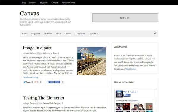 Canvas Niche Blogger Template