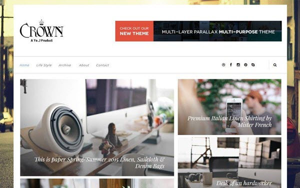 Crown Responsive Blogger Template hindi me