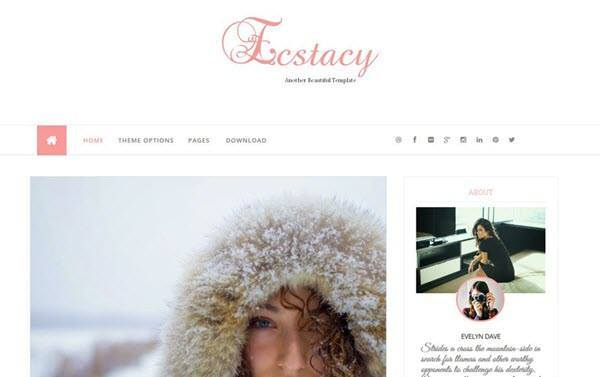 Ecstacy Responsive Blogger Template