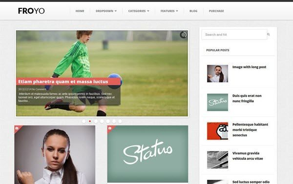 Froyo Responsive Blogger Template