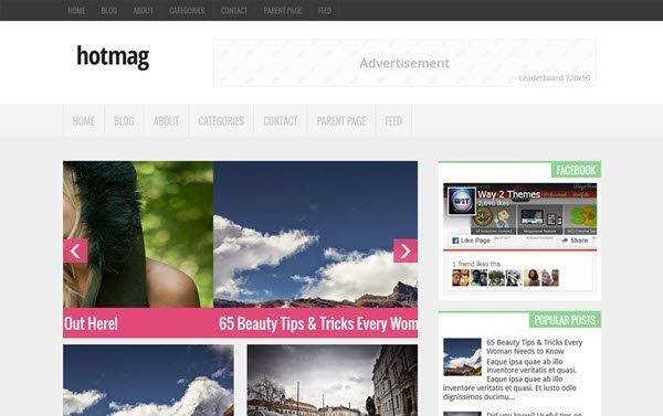 Hotmag Portfolio Blogger Template