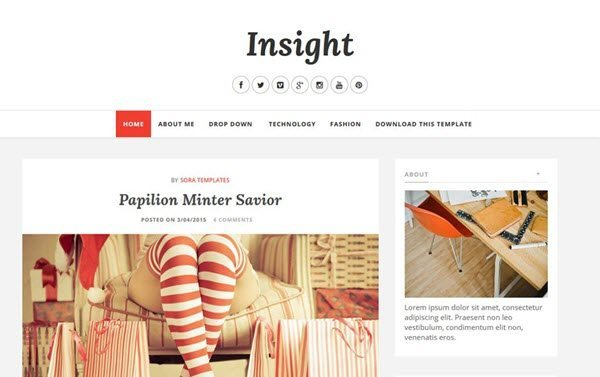 Insight Responsive Blogger Template