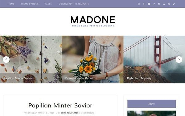 Madone Responsive Blogger Template