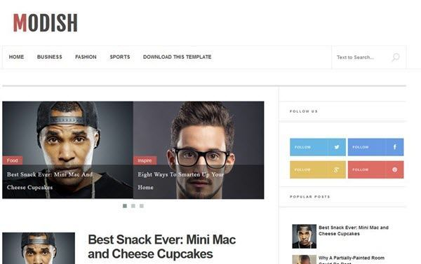 Modish Responsive Blogger Template