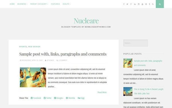 Nucleare Responsive Blogger Template