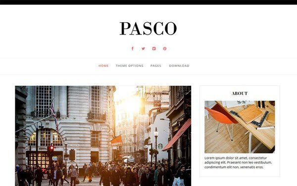 Pasco Responsive Blogger Template