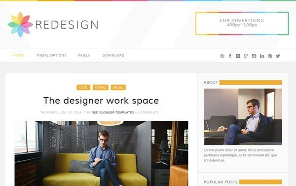ReDesign Responsive Blogger Template