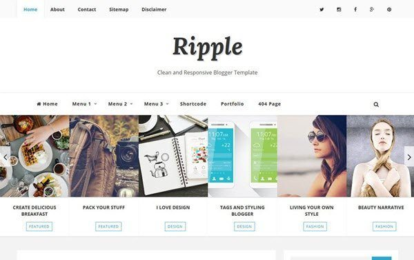 Ripple Pro Responsive Blogger Template