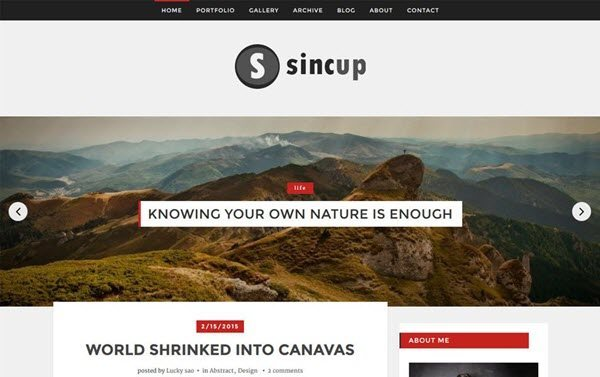 Sincup Magazine Blogger Template