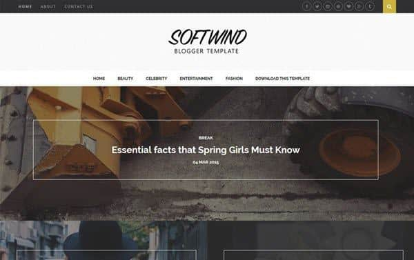 SoftWind Responsive Blogger Template