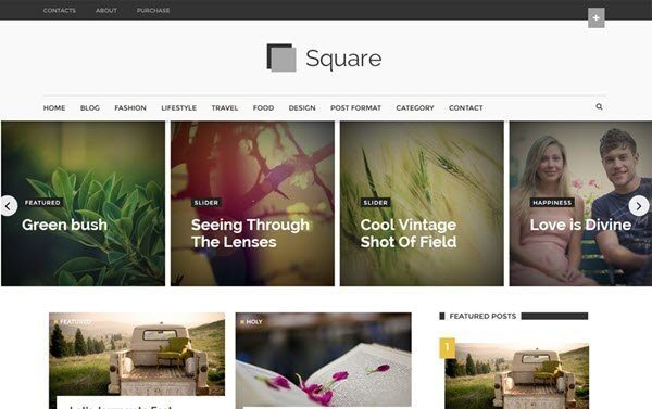 Square Modern Magazine Template