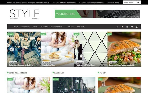 Style Magazine Blogger Template