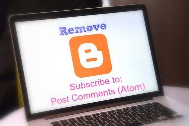 Subscribe to Posts (Atom) or Post Comments (Atom) ko Remove kare