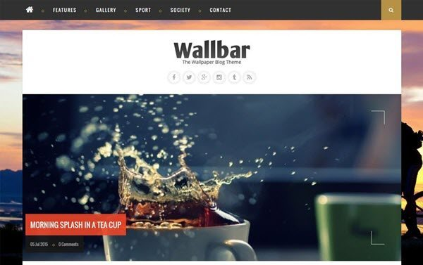 Wallbar Responsive Photo Blog Blogger Template
