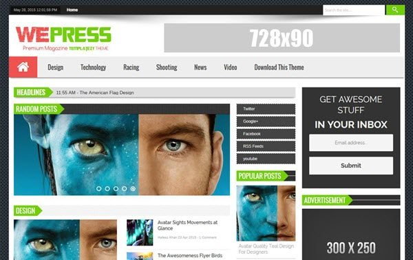 WePress Responsive Blogger Template