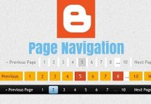Number Page Navigation Widget Add kare Blogger Blog me hindi main