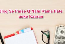 New Blogger Blog Se Paise Kamane Me Kyo Fail Hota Hai