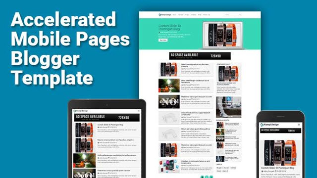 Kompi AMP Blogger Template free download kare