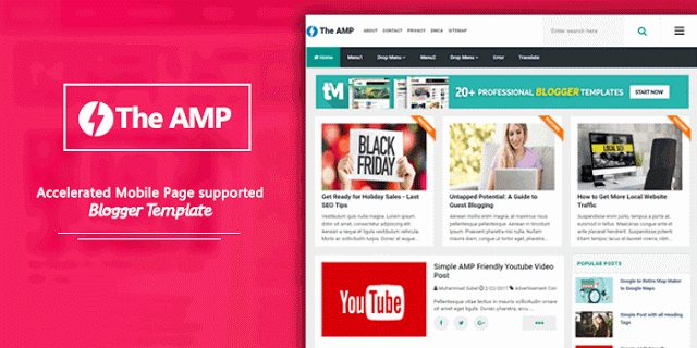 TheAMP Blogger Template free download kare