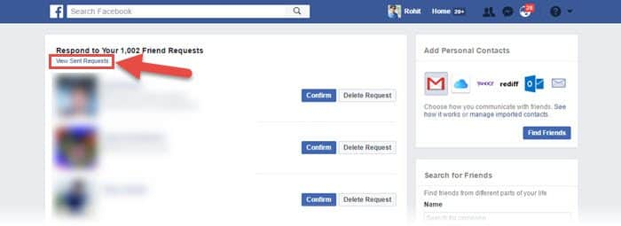 facebook friend request list kaise dekhe