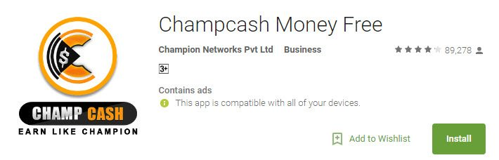 Champcash App Playstore Download
