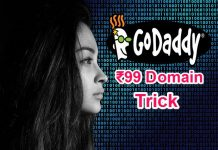 Godaddy ₹99 Domain Kaise Kharide [Trick in Hindi]