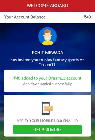 ab aapka dream 11 account ban gaya hai