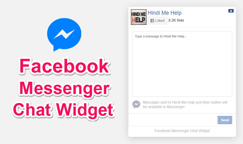 Facebook Messenger Chat Widget For Website Blog