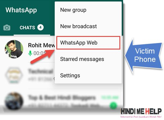 Whatsapp Web ko open kare
