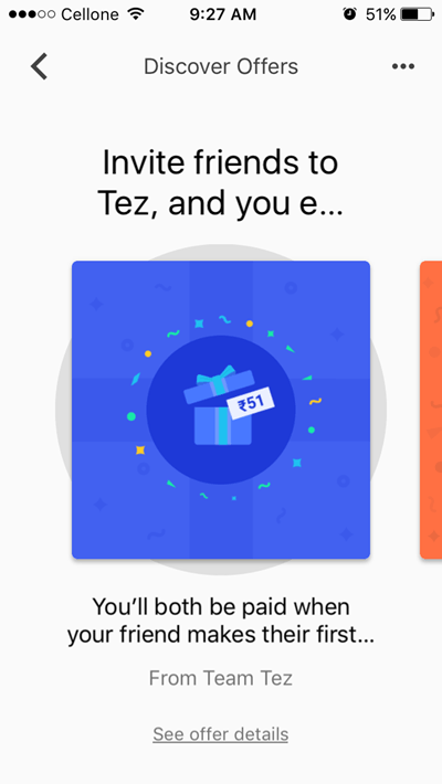 Google TEZ App refer and earn