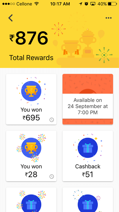 TEZ App Rewards earning