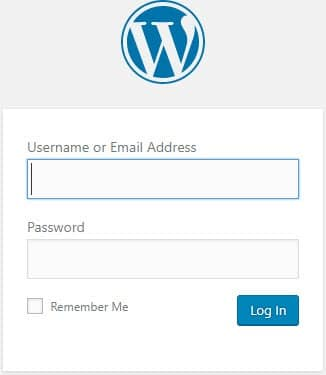 Wordpress me Login kare username or password daal kar