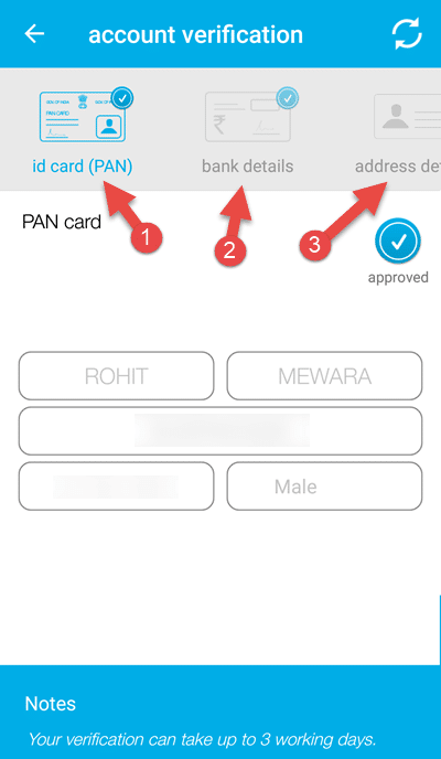 zebpay account verification kare PAN Card se