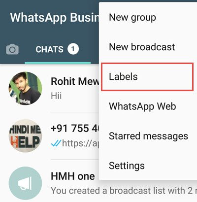 whatsapp lebel ko kaise use kare