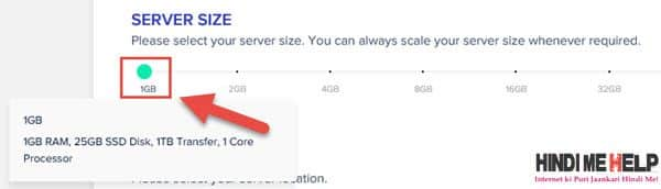 Server size select kare website ke liye cloudways par