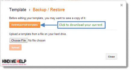 Blogger template ko Backup Download kaise kare hindi
