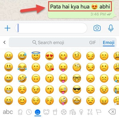 emoji kaise send kare or kya use hai emojis ka